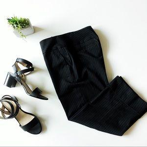 mossimo • black pinstripe capris